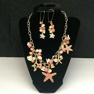 Beach Theamed Charmed Necklace & Earrings